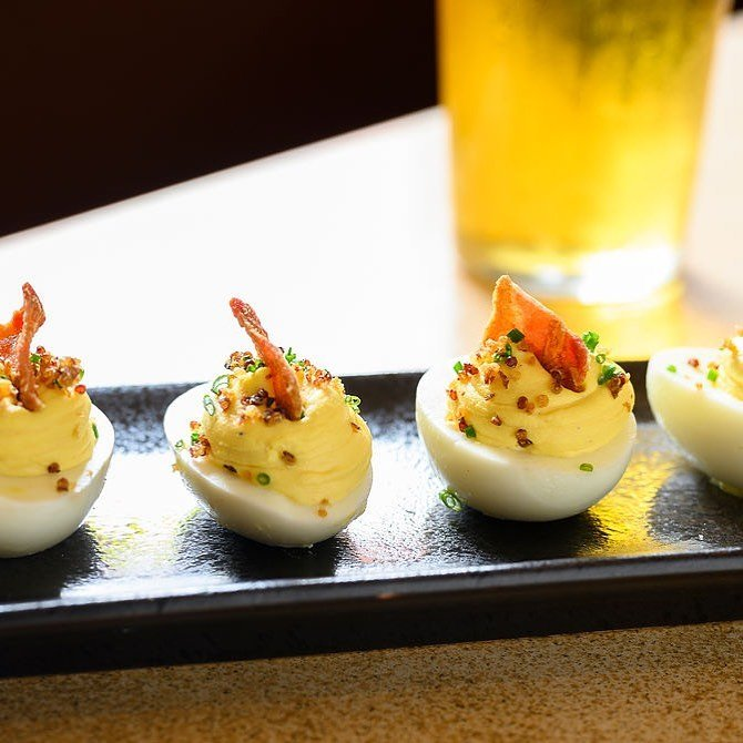 beer deviled egg